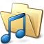 Folder Music Icon 64x64