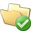 Folder Ok Icon 64x64
