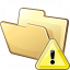 Folder Warning Icon 64x64