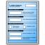 Form Blue Icon 64x64