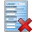 Form Blue Delete Icon 64x64