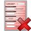 Form Red Delete Icon 64x64