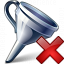 Funnel Delete Icon 64x64