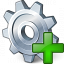 Gear Add Icon 64x64