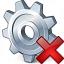Gear Delete Icon 64x64