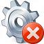Gear Error Icon 64x64