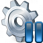 Gear Pause Icon 64x64