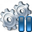 Gears Pause Icon 64x64