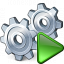 Gears Run Icon 64x64