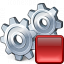 Gears Stop Icon 64x64