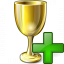 Goblet Gold Add Icon 64x64