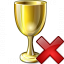 Goblet Gold Delete Icon 64x64