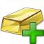 Gold Bar Add Icon 64x64