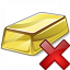 Gold Bar Delete Icon 64x64
