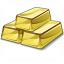 Gold Bars Icon 64x64
