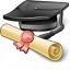 Graduation Hat Icon 64x64