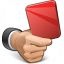 Hand Red Card Icon 64x64