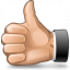 Hand Thumb Up Icon 64x64