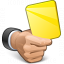 Hand Yellow Card Icon 64x64
