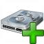 Hard Drive Add Icon 64x64