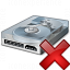 Hard Drive Delete Icon 64x64