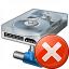 Hard Drive Network Error Icon 64x64
