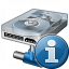 Hard Drive Network Information Icon 64x64