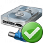 Hard Drive Network Ok Icon 64x64