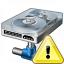 Hard Drive Network Warning Icon 64x64