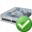 Hard Drive Ok Icon 64x64