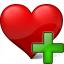 Heart Add Icon 64x64