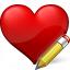 Heart Edit Icon 64x64