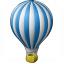 Hot Air Balloon Icon 64x64