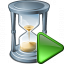 Hourglass Run Icon 64x64