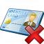 Id Card Delete Icon 64x64