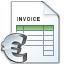 Invoice Euro Icon 64x64