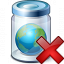 Jar Earth Delete Icon 64x64