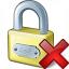 Lock Delete Icon 64x64