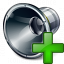 Loudspeaker Add Icon 64x64