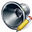 Loudspeaker Edit Icon 64x64
