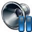 Loudspeaker Pause Icon 64x64