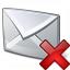 Mail Delete Icon 64x64