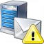 Mail Server Warning Icon 64x64