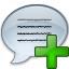 Message Add Icon 64x64