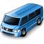 Minibus Blue Icon 64x64