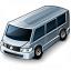 Minibus Grey Icon 64x64