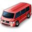 Minibus Red Icon 64x64