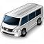 Minibus White Icon 64x64