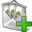 Money Envelope Add Icon 64x64