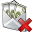 Money Envelope Delete Icon 64x64